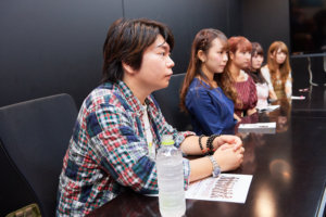 (L→R)田辺晋太郎、長田杏奈、松本優子、藤方彩乃、眞壁小百合